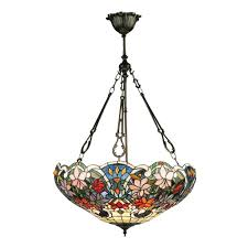 sullivan large inverted tiffany pendant light
