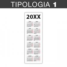 Calendario Segnalibro 2020