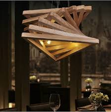 triangle tunnel solid wood chandelier wood lamps pendant lighting