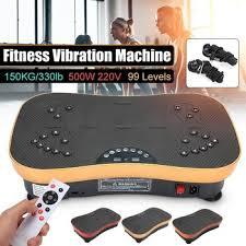 220V 500W Vibration Machine <b>Exercise</b> Platform Massager Body ...