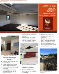 lopez island school district bond lopez school renovation project 18 newsletter