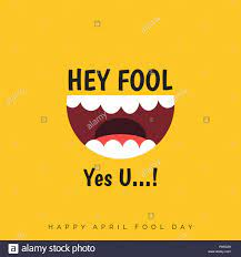 April Fools Day Schriftzug Typographie auf gelben Hintergrund für  Grußkarten, ad, Förderung, Poster, Artikel, Marketing, Beschilderung,  e-Mail. Vektor illustr Stock-Vektorgrafik - Alamy