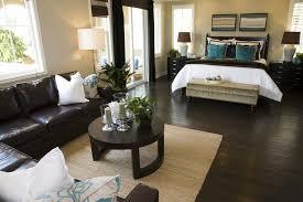 living room with black furniture. Dark Furniture Brown Flooring Living Room With Black T