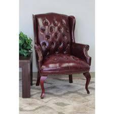 purple accent furniture. Oxblood Vinyl Wingback Guest Chair Purple Accent Furniture R