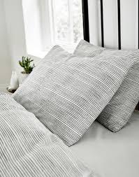 grey stripe housewife pillowcase