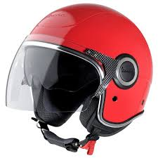 Vespa Vj Helmet In Red Scooter Crazy Ltd