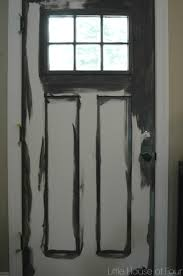 painting front doorUpdating the entryway with Sherwin Williams Iron Ore  Little