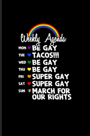 Weekly Agenda March For Our Rights Journal For Lgbtq Rights Pride