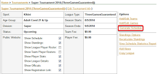 How To Make A League Schedule How To Create A Three Games Guaranteed Schedule 8 Team