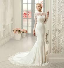 elegant lace long sleeve mermaid wedding dress uniqistic com