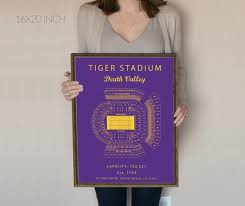 Lsu Tiger Stadium Seating Chart With Seat Numbers Tiger Stadium Seating Chart Blue Print Or Canvas Lsu Tigers Louisiana State University Baton Rouge Death Valley Poster