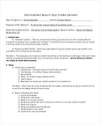 outline templates in pdf premium templates demonstration speech outline