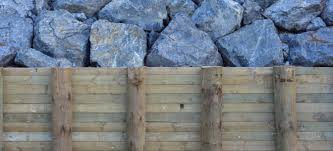 a wood retaining wall