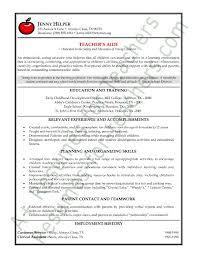Teacher Resume Examples Teacher Education