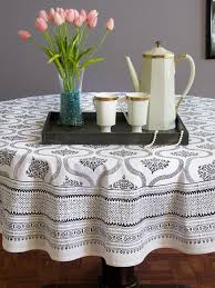 elegant round tablecloths throughout best modern black and white tablecloth house designs striped plans 12