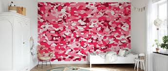 Camouflage - Pink – trendy wall mural ...