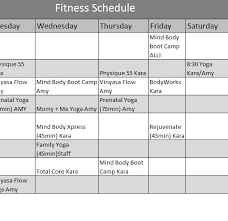 fitness timetable template yoga class schedule template oyle kalakaari co