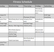 fitness timetable template yoga class schedule template oyle kalakaari co