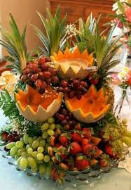 Decorative Fruit Trays A beautiful fruit tray at Greenbrier Golf Country Club Dining 69