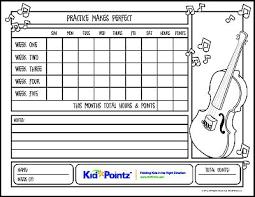 Free Printable Music Practice Charts Music Practice Charts Kid Pointz