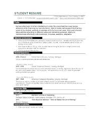Resume College Student Template Curriculum Vitae Examples For
