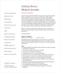 Pdf Template For Senior Medical Administrative Assistant Resume