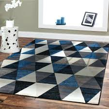 Navy Blue White Rugs Striped Rug Border