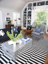 photos modern living room with black and white striped rug furniture