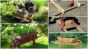 diy pallet wheelbarrow planter