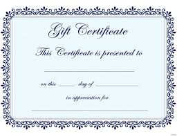 Fillable Certificates Online Fillable Gift Certificate Template Free Archives