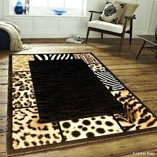 animal skin rugs black high density double shot exotic rug 5 2 x fake with head