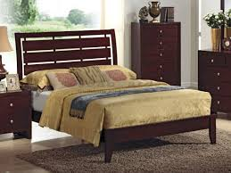 Crownmark 4700 Espresso Contemporary Evan Slatted Bed