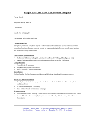 Resume For English Teachers Examples Sidemcicek Com