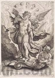 архангел михаил повергает змия Middle Ages архангел михаил