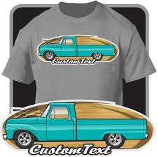 Custom Art T-Shirt 1961 1962 63 64 1965 66 1966 Ford F-100 F100 F ...