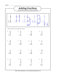 Adding-fractions-with-like-denominators-worksheets & Compare ...