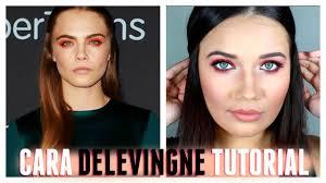 cara delevingne makeup tutorial orange eyes natural lips