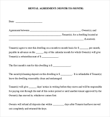 Simple Rental Agreement Template Simple Rental Agreement Month To Month Template Business