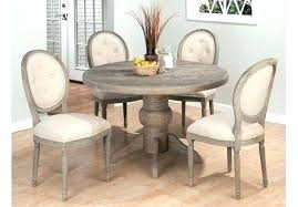distressed wood round dining table dresser distressed