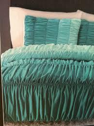 incredible cynthia rowley ombre ruched duvet comforter set twin xl aqua aqua twin bedding set ideas