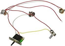 amazon com wiring harness prewired 5 way switch jack 500k pots wiring harness prewired 5 way switch jack 500k pots for fender replacement