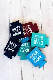 Koozie Beer Sweater Lake Party