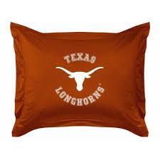 texas longhorns ncaa locker room sham full size