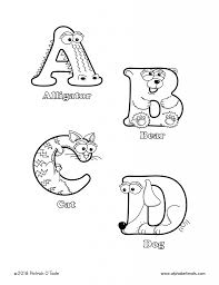 Instant download and ready to be printed on your favorite paper. Printable Coloring Pages Uppercase Letters Animals Alphabetimals