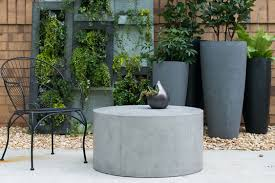 holloway round concrete coffee table
