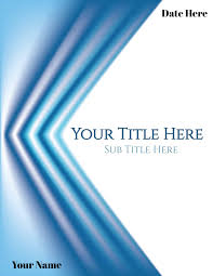 Design Your Own Title Page Free Printable Cover Pages That You Can Edit Online Add