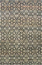 damask pattern gold grey handknotted rug