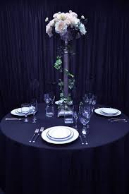 108 round table linen navy blue