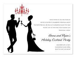 Formal Christmas Party Invitations Champagne Toast
