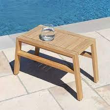 teak wood outdoor table summit high